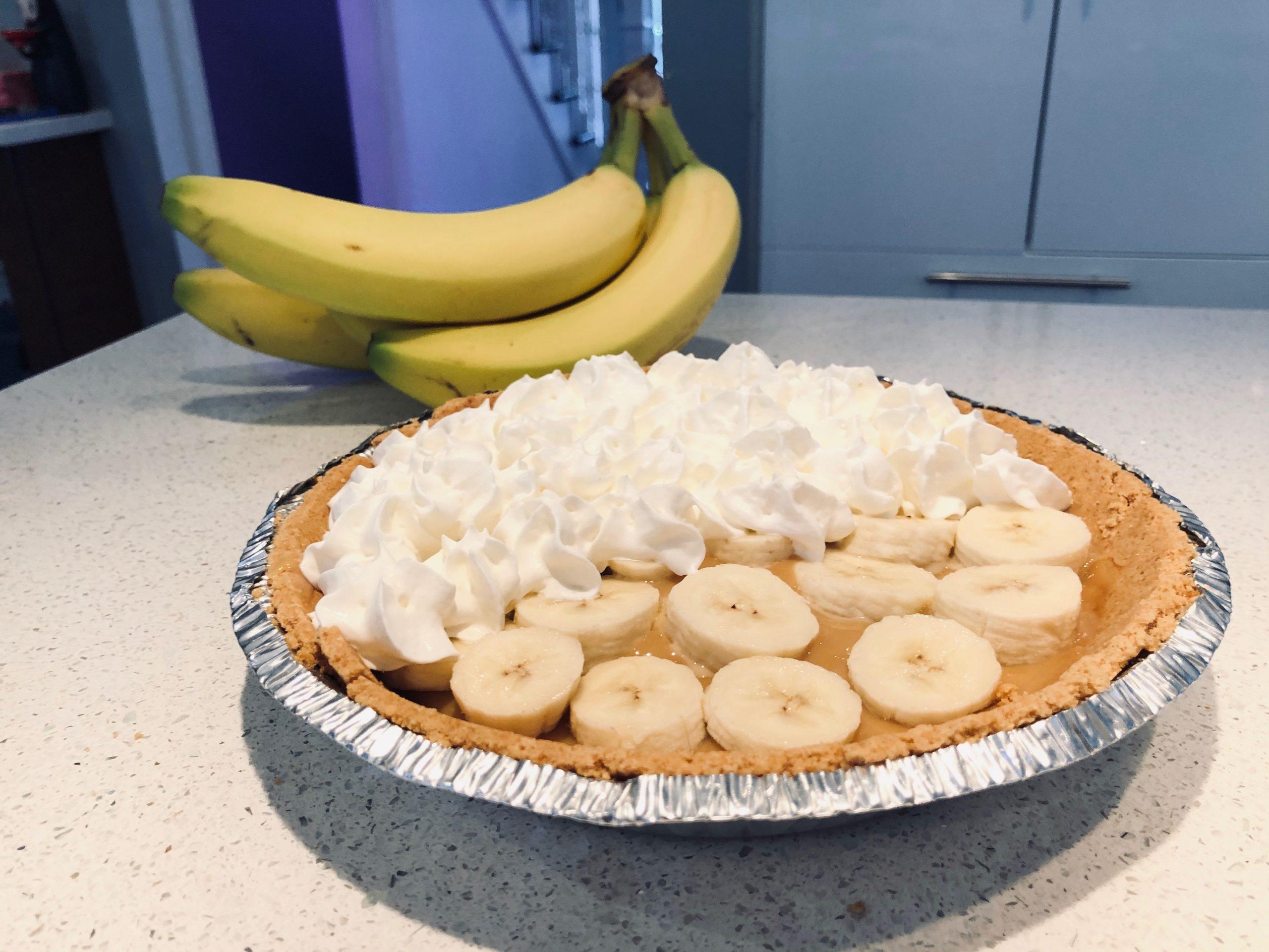Tarte caramel et banane